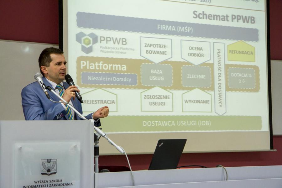 """Inauguracja """"Podkarpackiej Platformy Wsparcia Biznesu"""" na WSIiZ"""