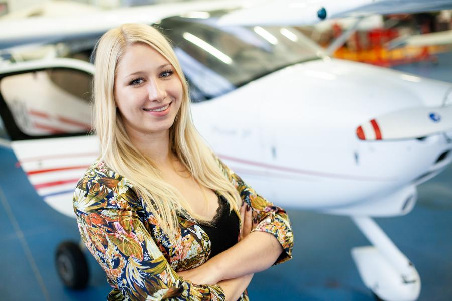 Katarzyna Górska, analityk British Airways, absolwentka Aviation Management WSIiZ