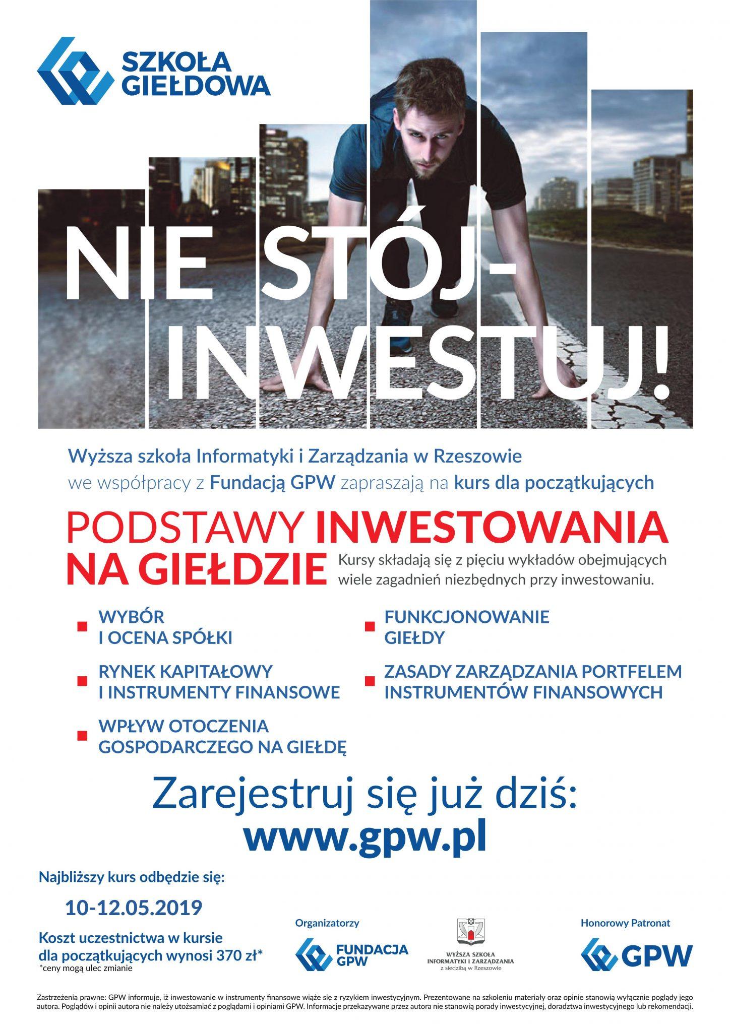 Kurs: Podstawy inwestowania na giełdzie