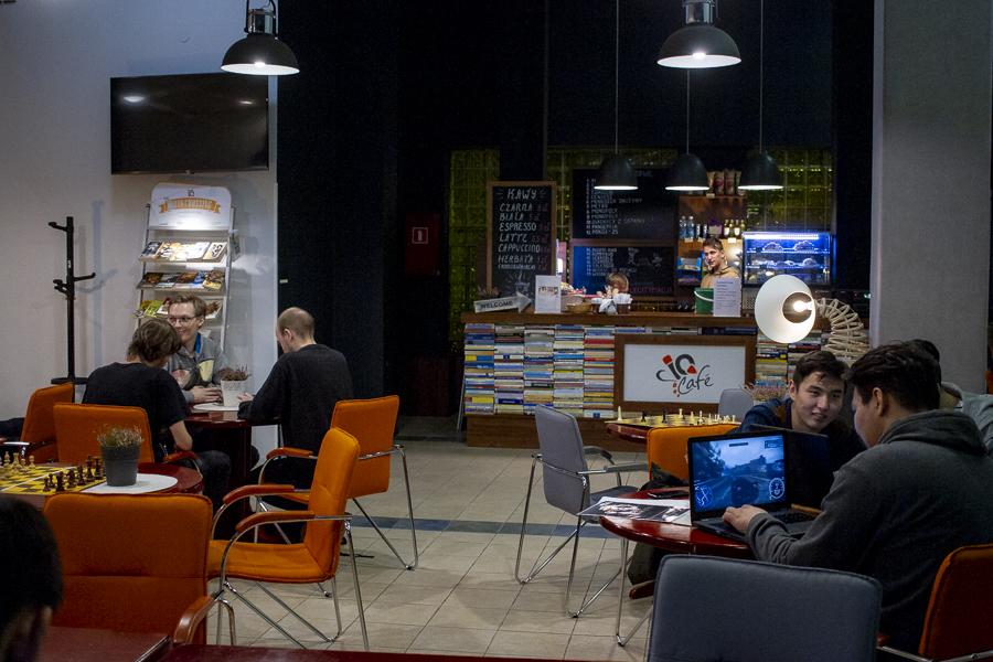 Kampus WSIiZ w Rzeszowie. IC Cafe.