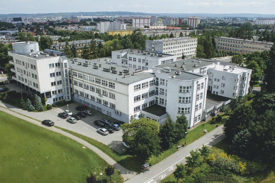 Kampus WSIiZ w Rzeszowie.