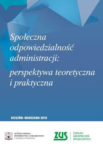 Okładka Społeczna odpowiedzialność administracji, WSIiZ