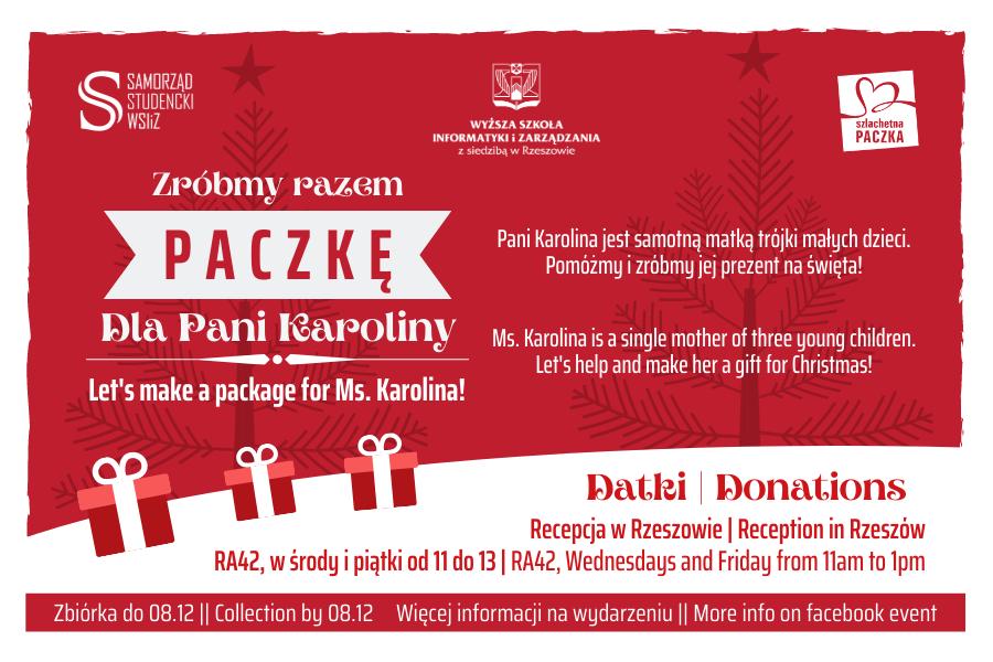 Zostań Świętym Mikołajem zWSIiZ – dołącz doSzlachetnej Paczki!